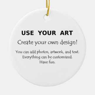 Create your own decorations use your art photos christmas ornaments