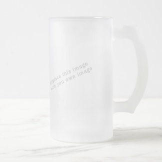 Create your own design 16 oz frosted glass beer mug
