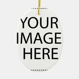 Create your own design & text :-) ceramic ornament