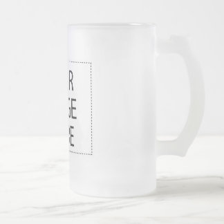 CREATE YOUR OWN - DESIGN YOUR OWN - BLANK FROSTED GLASS BEER MUG