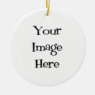 Create Your Own : Design Your Own Custom Double-Sided Ceramic Round Christmas Ornament