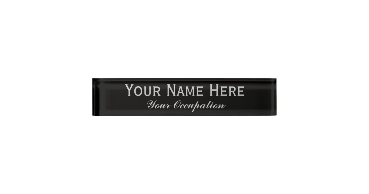 create your own desk name plate zazzle - Design Your Own Desk