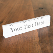 Create Your Own Desk Nameplate