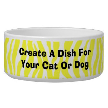 Create Your Own Dish For Your Pet Dog Or Cat by DigitalDreambuilder at Zazzle