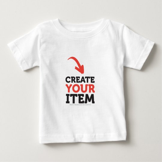Create your own diy custom color options baby t shirt for Make and design your own t shirts