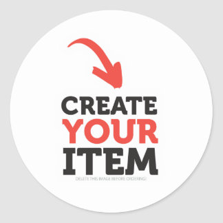 CREATE-YOUR-OWN DIY Custom Print (Color Options) Classic Round Sticker