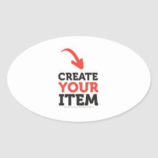 CREATE-YOUR-OWN DIY Custom Print (Color Options) Oval Sticker