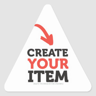 CREATE-YOUR-OWN DIY Custom Print (Color Options) Triangle Sticker