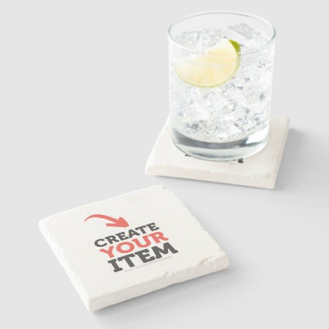 CREATE-YOUR-OWN DIY Custom upload design Bachelor Stone Coaster