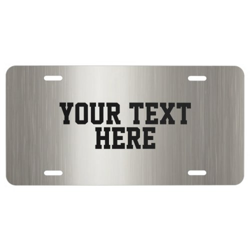 CREATE_YOUR_OWN DIY Custom upload  design silver License Plate