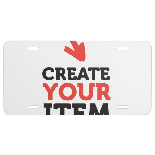 CREATE_YOUR_OWN DIY Custom upload your design License Plate