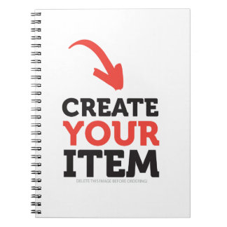 CREATE-YOUR-OWN DIY Custom upload your design Notebook