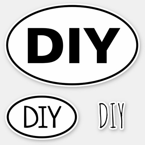 Create Your Own DIY Oval Euro Vinyl Sticker Set