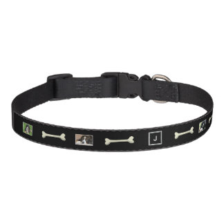 Create your own dogs photo collage monogram pet collar