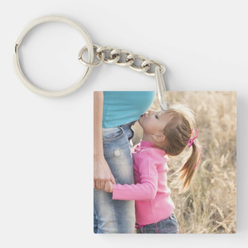 Create Your Own Double Sided 2 Photo Upload Pictur Keychain