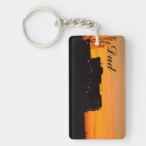 Create your own double sided keyring for Dad