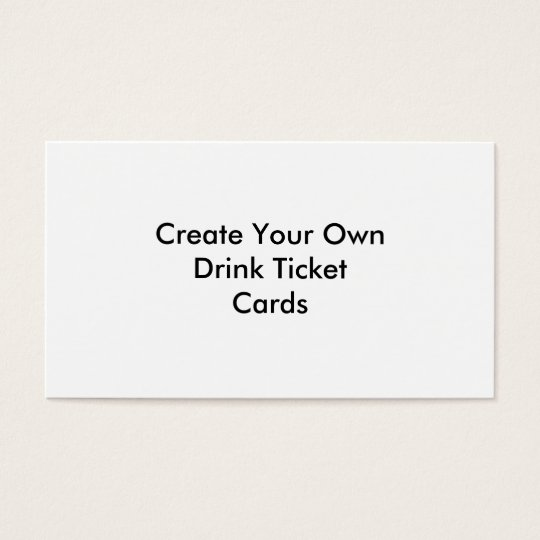 create your own drink ticket cards weddings zazzle com