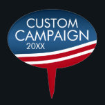 """Create Your Own Election Design Cake Topper<br><div class=""""desc"""">Are you looking for campaign materials that you can personalize? This modern flag wave design is  fresh and stylish. Add your name or your favorite candidate to make custom political gear.</div>"""