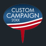 "Create Your Own Election Design Cake Topper<br><div class=""desc"">Are you looking for campaign materials that you can personalize? This modern flag wave design is  fresh and stylish. Add your name or your favorite candidate to make custom political gear.</div>"