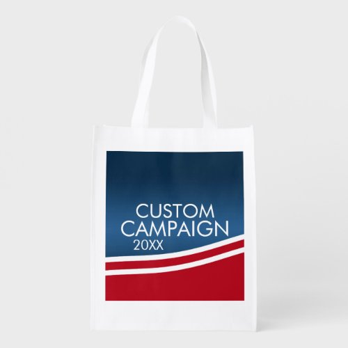 Create Your Own Election Design Reusable Grocery Bag