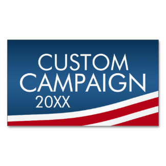 Create Your Own Election Design Magnetic Business Cards (Pack Of 25)