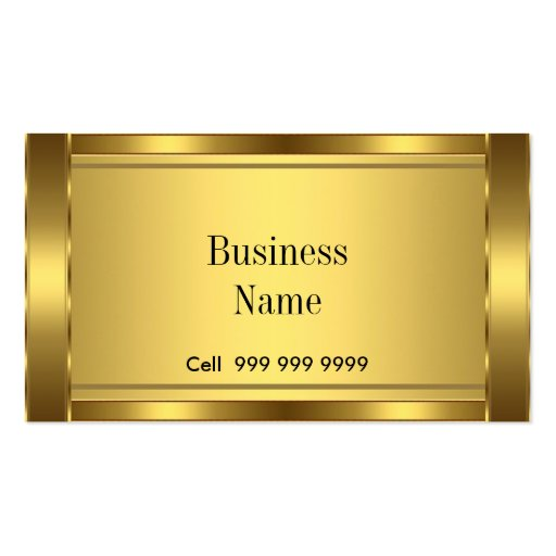 Create Your Own Elegant Business Card Gold