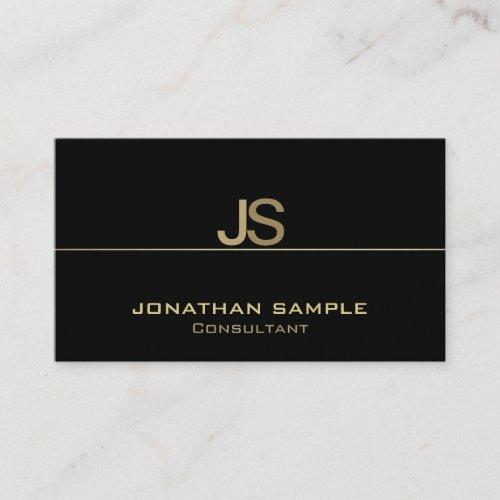Create Your Own Elegant Monogram Modern Template Business Card
