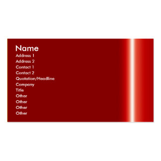 Create your own elegant red business card