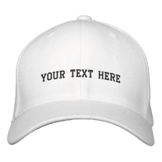 Create Your Own Embroidered Baseball Hat