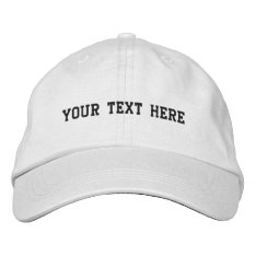 Create Your Own Embroidered Baseball Hat at Zazzle