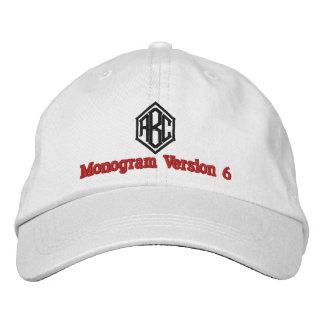 Create Your Own Embroidered Custom Monogram V06 Embroidered Baseball Caps