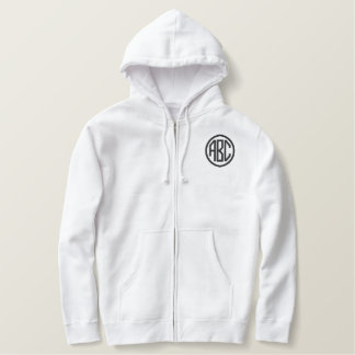 Create Your Own Embroidered Monogram Zip Hoodie