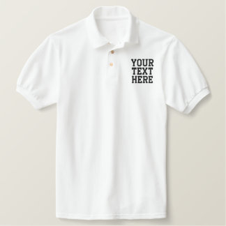 Create Your Own Embroidered Text Polo