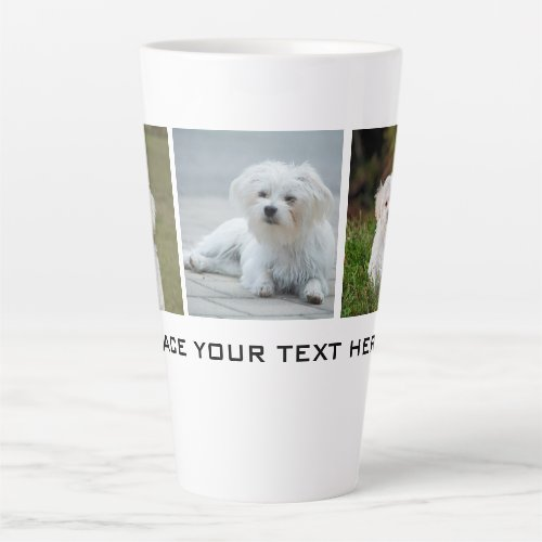 Create your Own Family Dog Photo Latte Mug