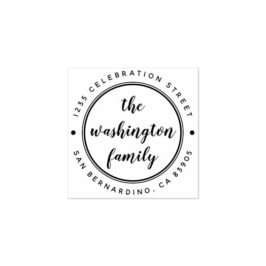 Design Your Own Rubber Stamp: Create Your Own Family Name Custom Return Address Rubber