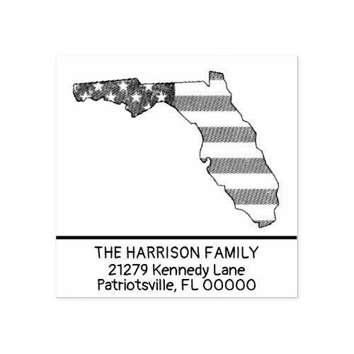Create Your Own Family Name Florida Return Address Rubber Stamp