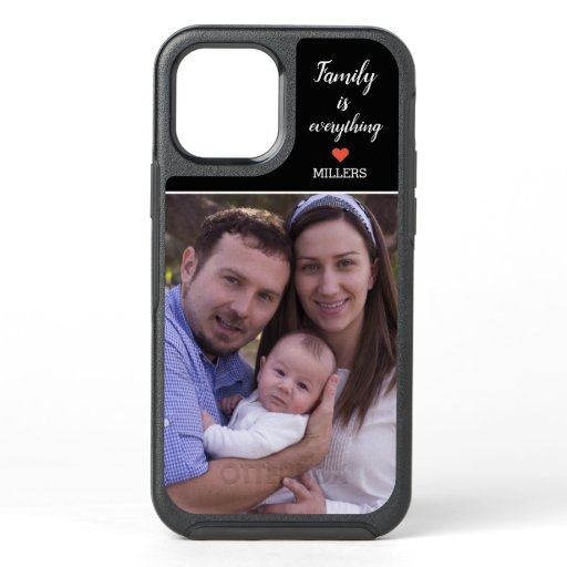 Create your Own Family Name Photo OtterBox Symmetry iPhone 12 Case
