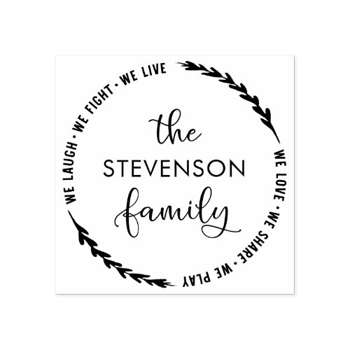 Create Your Own Family Name Rubber Stamp