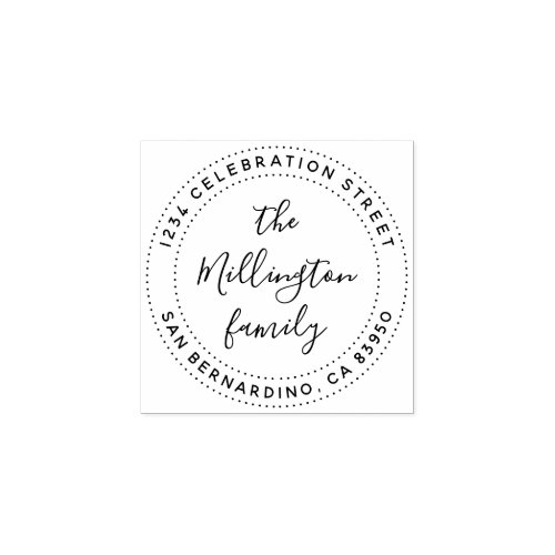 Create Your Own Family Name Script Return Address Rubber Stamp