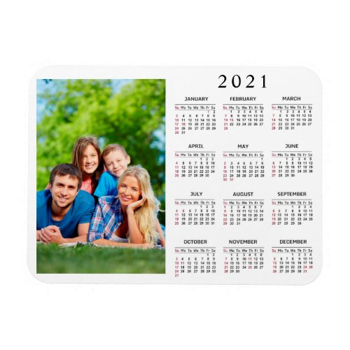 Create Your Own Family Photo 2021 Calendar Magnet