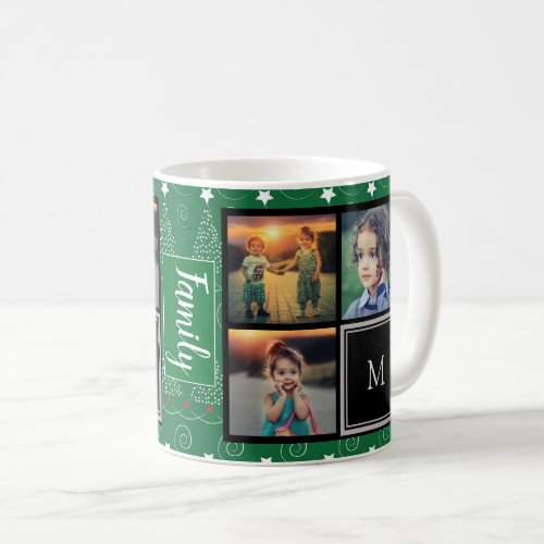 Create your own family photo collage Christmas Coffee Mug