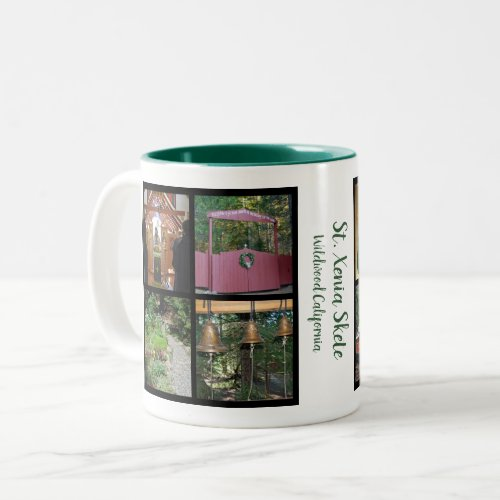 Create your own family photo collage family name Two_Tone coffee mug