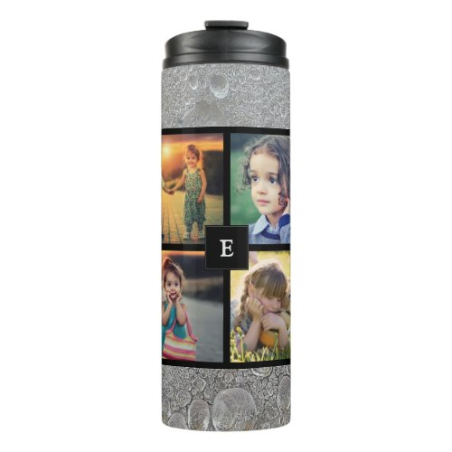 Create your own family photo collage ice water thermal tumbler