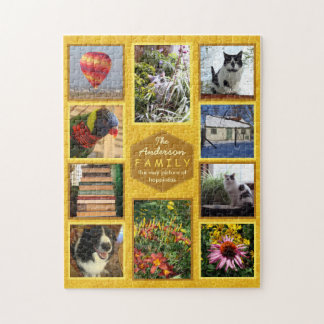 Create Your Own Family Photo Collage Name Honey Puzzle