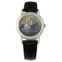Create your own family photo keepsake watch