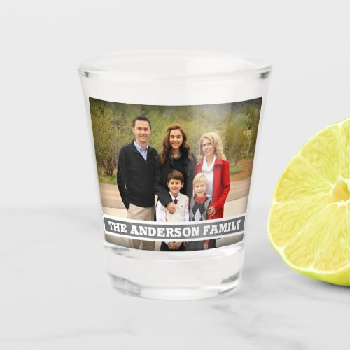Create Your Own Family Photo Monogram Shot Glass