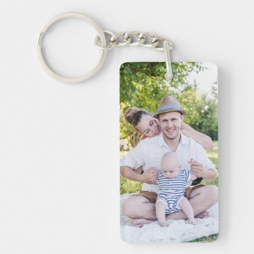 Create Your Own Family Photo Personalized Keychain
