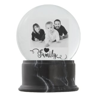 Create Your Own Family Photo Snow Globe