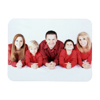 Create your own family photo template rectangular photo magnet