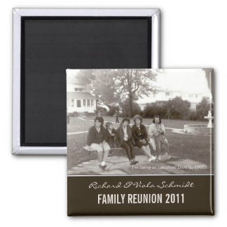 Create Your Own Family Reunion Vintage Style 2 Inch Square Magnet